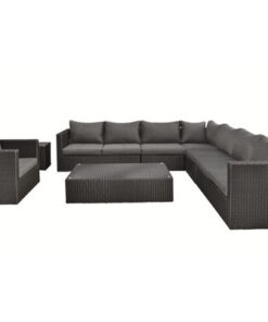 wicker loungeset belmont zwart